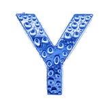 Metal Zeichen u. wässern Sie Tropfen - bezeichnen Sie Y mit Buchstaben Lizenzfreies Stockfoto