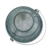 Metal zinc bucket isolated Royalty Free Stock Images