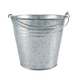 Metal zinc bucket isolated Stock Images