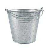 Metal zinc bucket isolated stock images