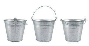 Metal zinc bucket isolated Royalty Free Stock Photography