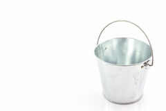 Metal zinc bucket . Royalty Free Stock Image