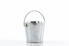 Metal zinc bucket. Royalty Free Stock Images