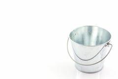 Metal zinc bucket . Royalty Free Stock Photography