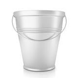 Metal zinc bucket on white Stock Photo