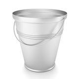Metal zinc bucket on white Stock Images