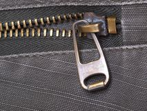 Metal zipper Royalty Free Stock Photos