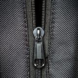 Metal zipper on black synthetic fabric. Open  Metal zipper on black synthetic fabric Royalty Free Stock Photo