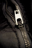 Metal zipper detail Royalty Free Stock Photo