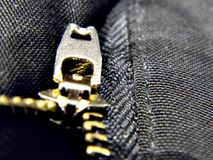 Metal zipper on trousers Royalty Free Stock Photos