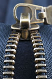 Metal zipper Royalty Free Stock Photography