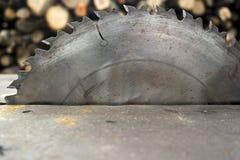 Metal zobaczył ostrze Zdjęcie Stock