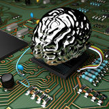 MetalBrain chip Stock Images