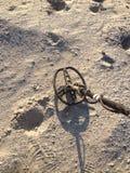 Metaldetecting дальше Стоковое фото RF