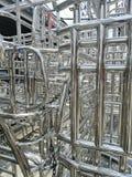Metale i aluminiowa stalowa rama fotografia stock