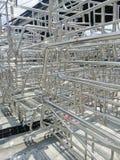 Metale i aluminiowa stalowa rama zdjęcia stock