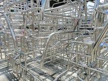 Metale i aluminiowa stalowa rama obrazy stock