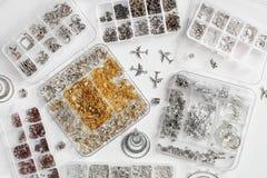 Metales para las joyas imágenes de archivo libres de regalías