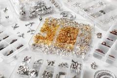 Metales para las joyas foto de archivo