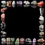 Metales y piedras preciosas de los minerales Imagen de archivo libre de regalías