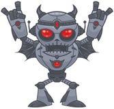 Metalhead - robot de metales pesados ilustración del vector