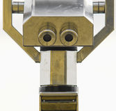 Metalheadz. Weird Robot head that is actually something else, actually the viewing end of a telescope Stock Image