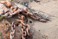 Metali łańcuchy Zdjęcia Stock