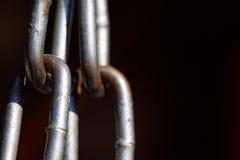 Metali łańcuszkowych połączeń zamknięty up Fotografia Stock