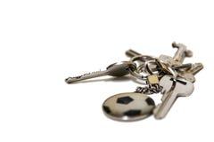Metali klucze na białym tle Zdjęcie Royalty Free