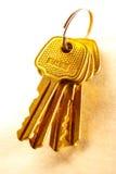 Metali klucze na papierowym tle Zdjęcie Royalty Free