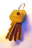 Metali klucze na papierowym tle Fotografia Royalty Free