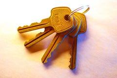Metali klucze na papierowym tle Obrazy Stock