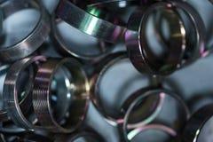 Metali krzaki przemysłowe abstrakcyjne tło obraz stock