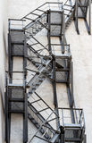 Metali pożarniczy schodki na fasadzie Zdjęcia Royalty Free