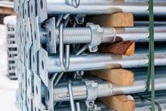 Metali poparcia dla budowy formwork obraz stock