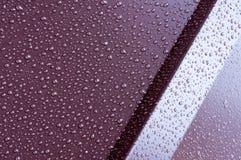 Metali profile w kroplach woda Zdjęcia Royalty Free