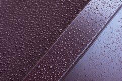 Metali profile w kroplach woda Obrazy Stock