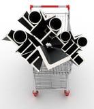 Metali profile w twój wózek na zakupy Obrazy Royalty Free