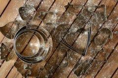 Metali różni krajacze dla piec z flouring Obrazy Royalty Free