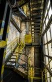 Metali schodki w fabryce Obraz Royalty Free