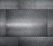 Metali stalowych talerzy zbroi tło Zdjęcia Stock