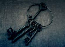Metali starzy klucze Zdjęcia Royalty Free