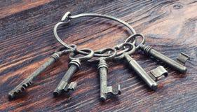 Metali starzy klucze Fotografia Royalty Free