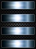 Metali sztandary nad siecią Fotografia Royalty Free