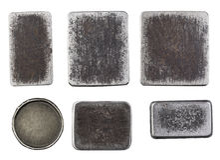Metali talerze obrazy stock