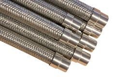 Metali węże elastyczni. Obraz Stock
