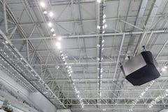 Metali wnętrzy dachowa struktura budynek Fotografia Royalty Free