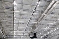 Metali wnętrzy dachowa struktura budynek Zdjęcie Royalty Free