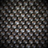 Metalic balls background. Group of magnetic metalic balls squared background Royalty Free Stock Photography