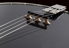 Metalic black banjo  on black background Royalty Free Stock Photo
